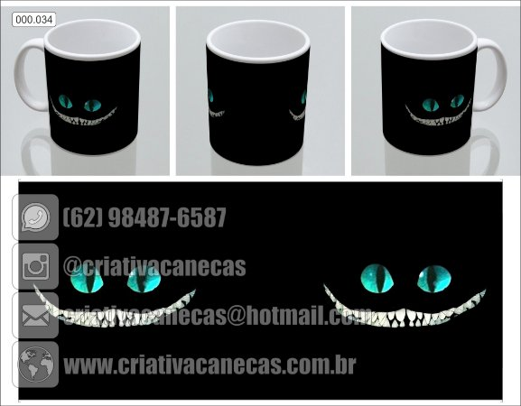 Caneca - Alice no País das Maralhilhas - Gato