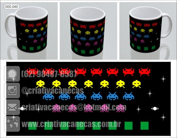 Caneca - Space Invaderes
