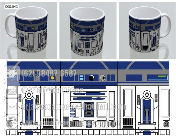 Caneca: Star Wars - R2D2