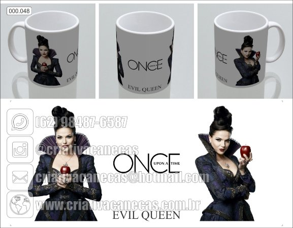 Caneca - Once Upon A Time - Evil Queen