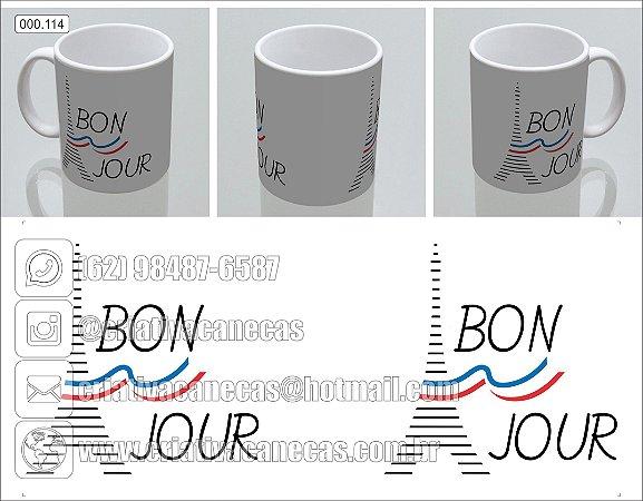 Caneca - Bonjour