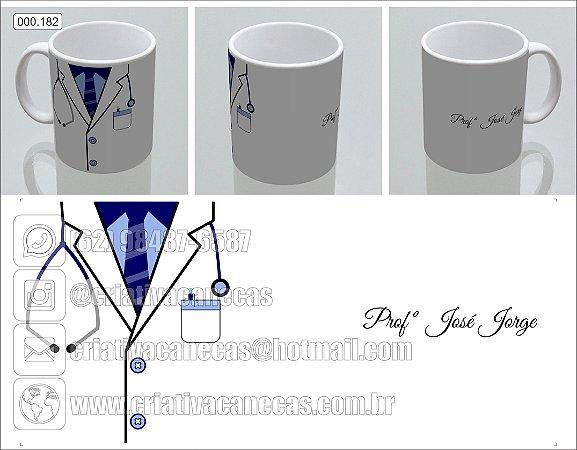 Caneca - Jaleco azul