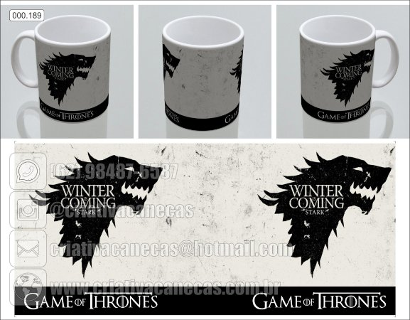 Caneca - Game of Thrones - Winter Is Coming
