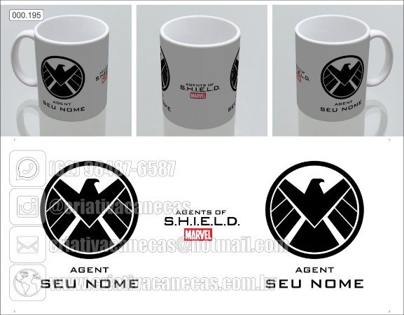 Caneca - Agentes da S.H.I.E.L.D.