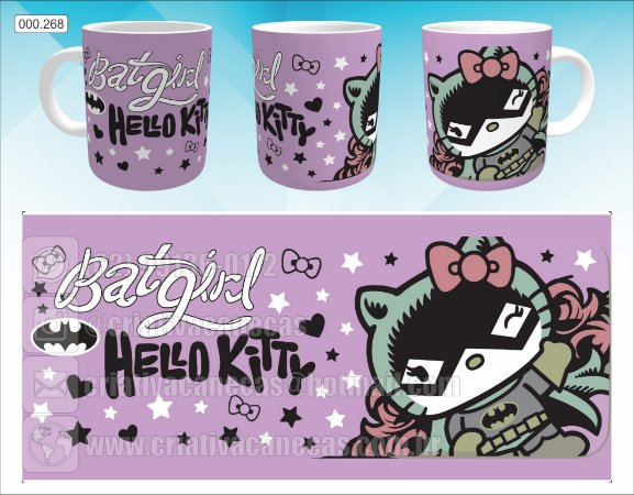 Caneca - Hello Kitty Batgirl