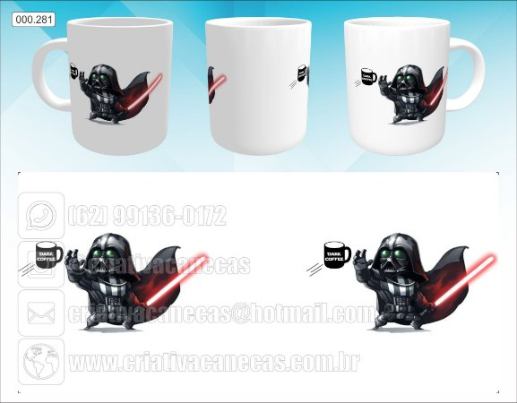 Caneca - Darth Vader Cartoon