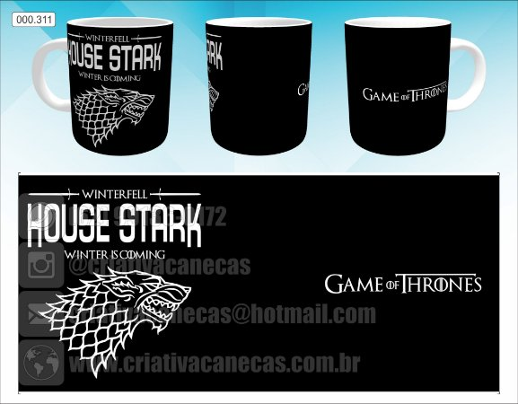 Caneca - Game of Thrones - House Stark
