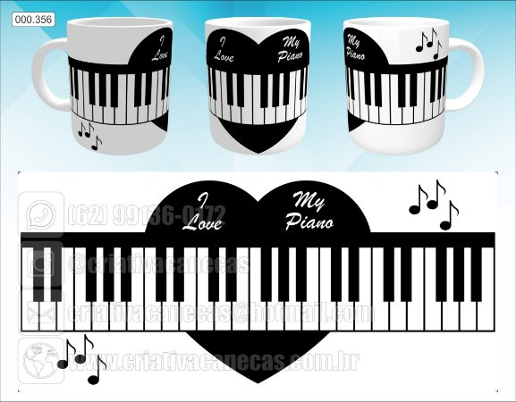 Caneca - I Love My Piano