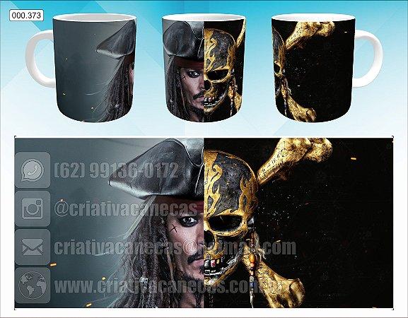 Caneca - Piratas do Caribe - Jack Sparrow