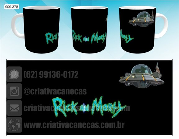 Caneca - Rick and Morty - Nave