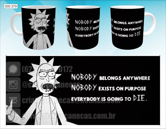 Caneca - Rick and Morty - Nobody