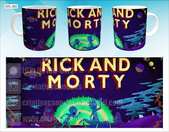 Caneca - Rick and Morty