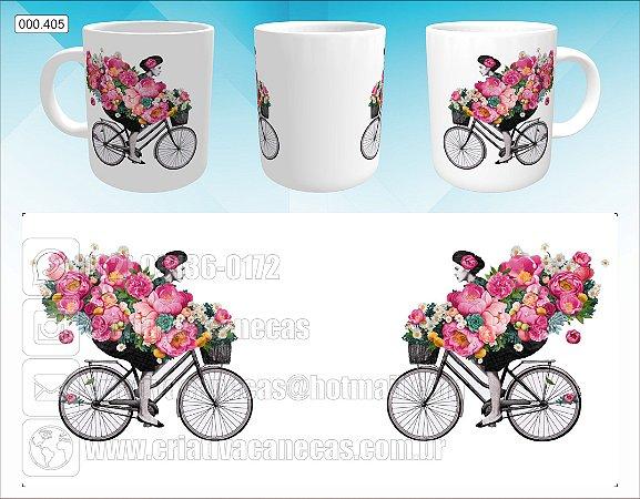 Caneca - Bicicleta com Flores