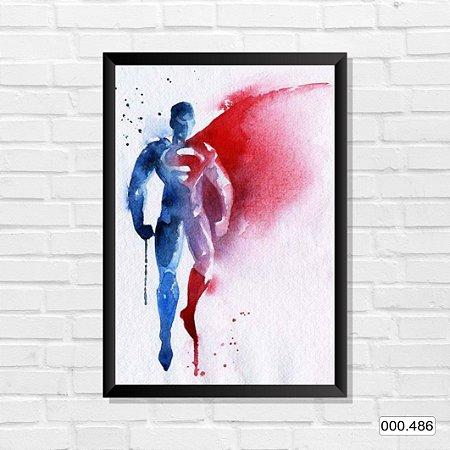 Quadro - Superman, Arte em tinta