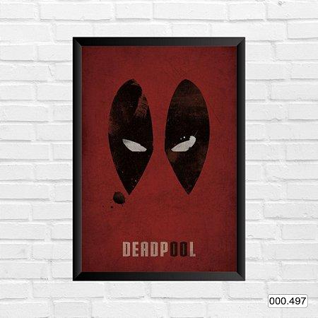 Quadro - Deadpool, Arte vermelha