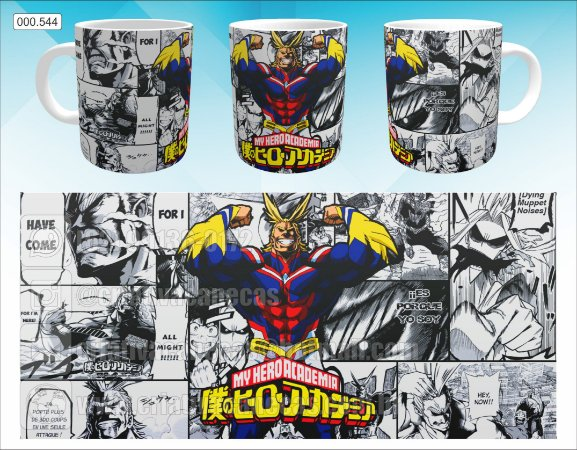 Caneca - Boku No Hero -  All Might, Mangá