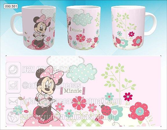 Caneca - Minnie - Flores