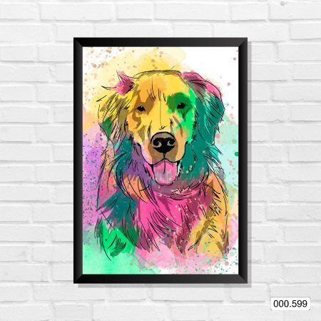 Quadro - Cachorro, Arte 02