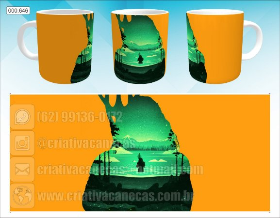 Caneca - Aquaman, Fundo Laranja