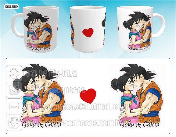 Caneca - Goku e Chichi
