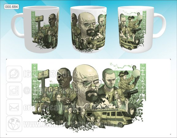 Caneca - Breaking Bad, Arte
