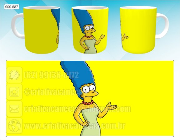 Caneca - Marge Simpson, Yellow