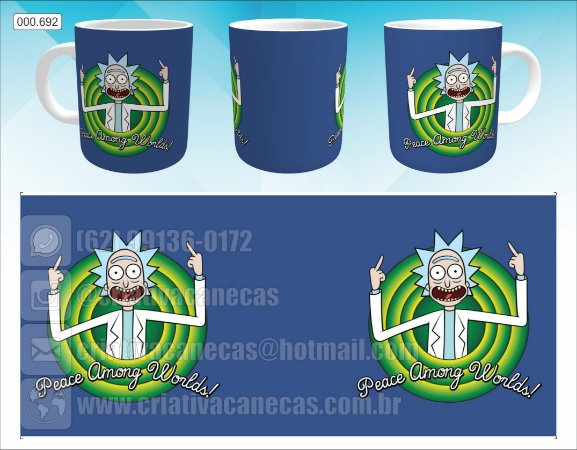 Caneca - Rick and Morty, Peace Among Worlds