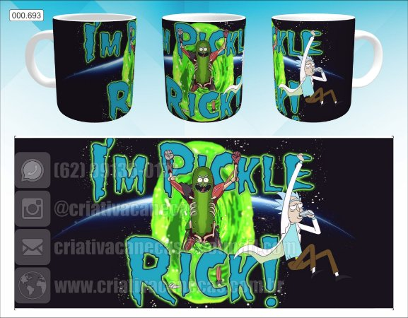 Caneca - Rick and Morty, Pickle Rick