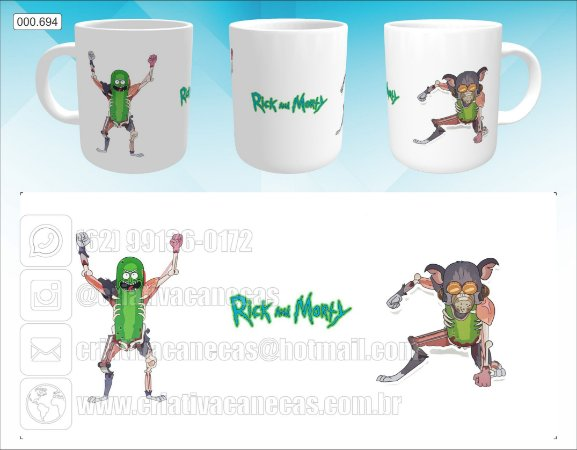 Caneca - Rick and Morty, Pickle Rick 2