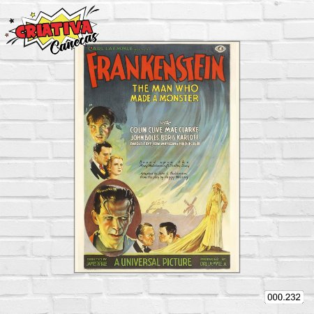 Placa decorativa - Frankenstein