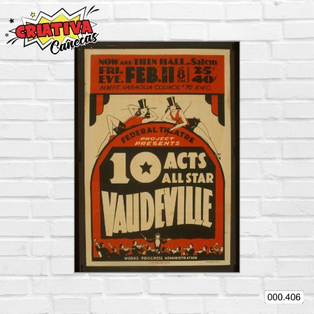 Placa decorativa - 10 Acts All Star Vaudeville
