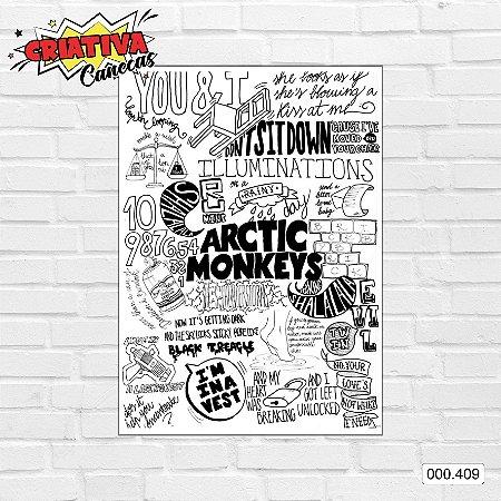 Placa decorativa - Arctic Monkeys