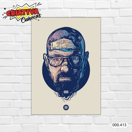 Placa decorativa - Breaking Bad - Walter White
