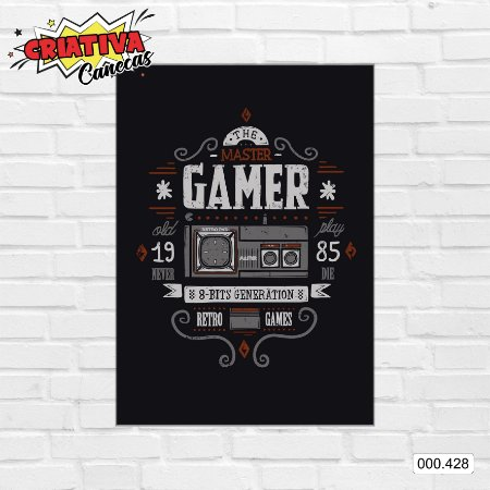 Placa decorativa - Gamer