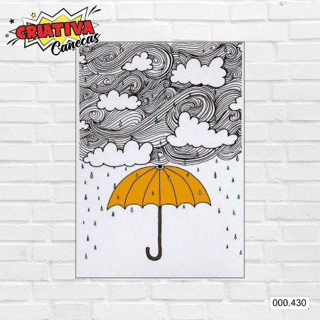 Placa decorativa - Guarda-chuva