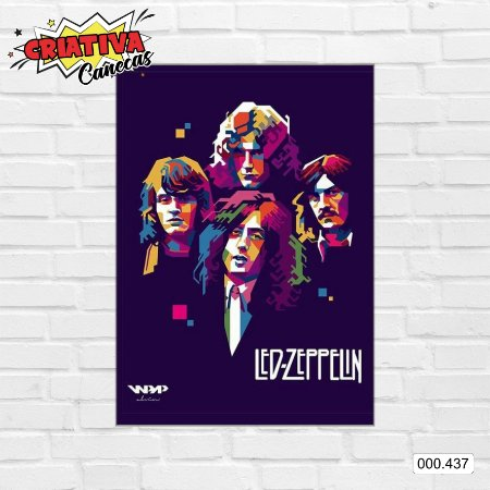 Placa decorativa - Led Zeppelin