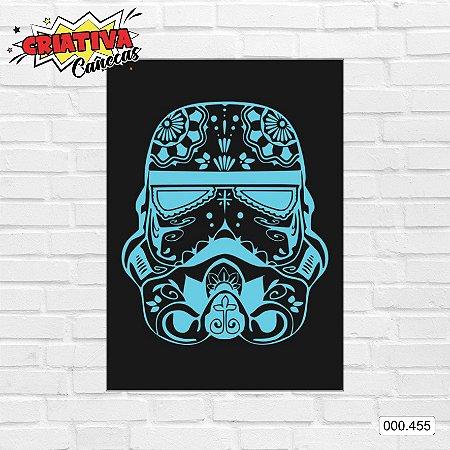 Placa decorativa - Star Wars - Blue Stormtrooper