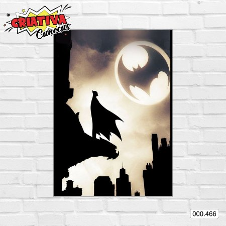 Placa decorativa - Batman - Bat-Sinal