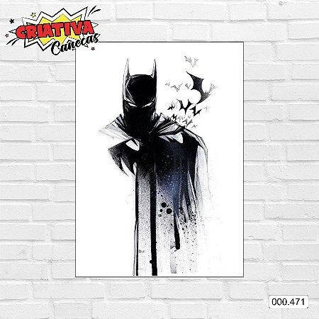 Placa decorativa - Batman, Arte Desenho
