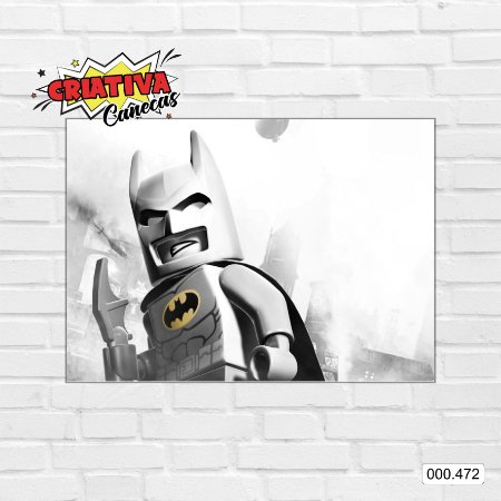 Placa decorativa - Batman, Lego