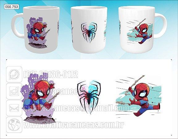 Caneca - Homem Aranha - Arte Chibi