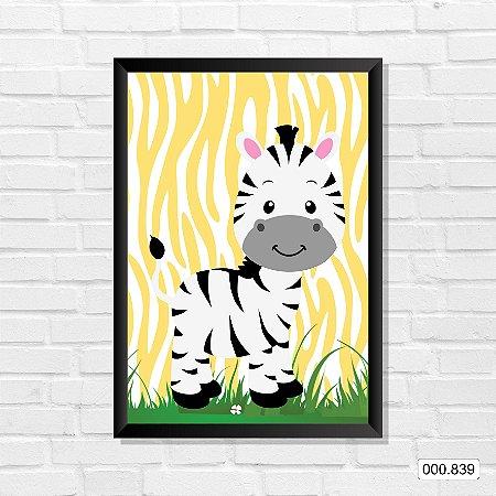 Quadro - Fazendinha Zebra