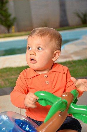 Camiseta com Proteção UV Polo Bebê