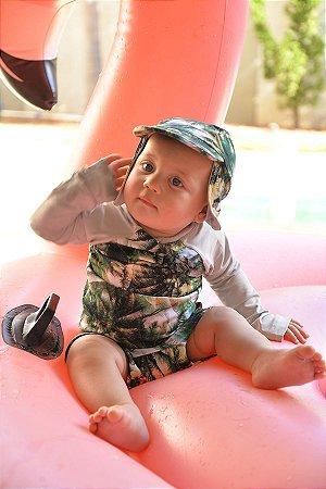 Boné Legionário com Proteção UV para Bebês