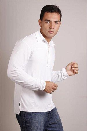 Camiseta com Proteção UV Polo Fit Man Manga Longa