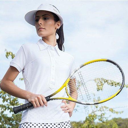Camiseta com Proteção UV Polo Fit Woman Manga Curta
