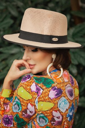 Chapéu Panamá Rose com Proteção Solar Sunprise