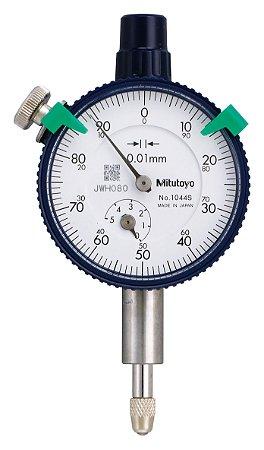Relógio Comparador Analógico Tampa Com Orelha Modelo Compacto 5mm 0,01mm 1044S