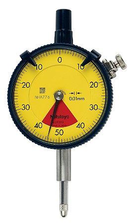 Relógio Comparador 0,8mm 0,01mm Volta Única Tampa Com Orelha 2929S