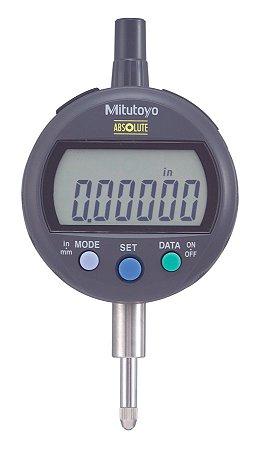 Relógio Comparador Digital ABSOLUTE 12,7mm 0,001mm ID-CX Tampa Lisa Com Preset 543-392B